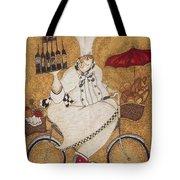 Happy Chef On The Bike Tote Bag