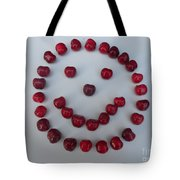 Happy Cherry Face Tote Bag