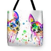 Happy Chihuahuas Tote Bag