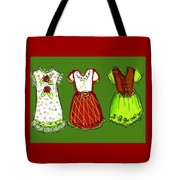 Happy Christmas Dresses Tote Bag