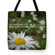 Happy Daisy Quote Tote Bag