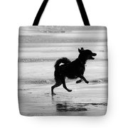 Happy Dog Black And White Tote Bag