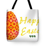 Happy Easter Abstract Greeting Card Art By Omaste Witkowski  Tote Bag