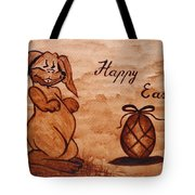 Happy Easter Coffee Painting Tote Bag