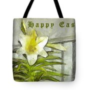 Happy Easter Lily Tote Bag