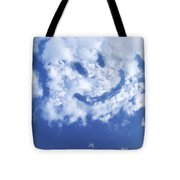 Happy Face Sky Tote Bag