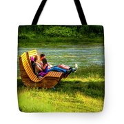 Young Family Enjoying The Swiss Country Side Tote Bag