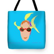 Happy Fish On Vacation Tote Bag