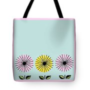 Happy Flowers Tote Bag