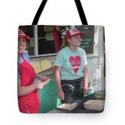 Happy Food Truck Workers Tote Bag
