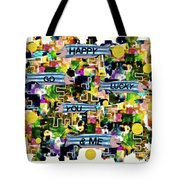Happy Go Lucky You Tote Bag