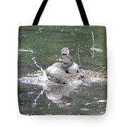 Happy Grebe Dance Tote Bag