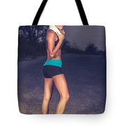 Happy Healthy Sportive Woman Tote Bag