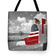 Happy Holidays Mail Tote Bag