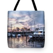Happy Hour Sunset At Bluewater Bay Marina, Florida Tote Bag