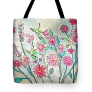 Happy Hummingbirds Tote Bag