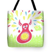 Happy Jumping Creature Tote Bag