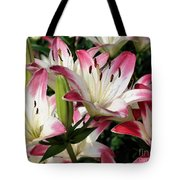 Happy Lilies Tote Bag