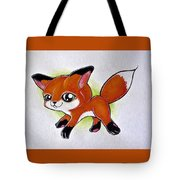 Happy Little Fox Tote Bag