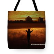 Happy Moment At A Beach Tote Bag