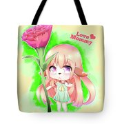 Happy Mother's Day Furry Girl Tote Bag