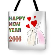 Happy New Year 2016 Tote Bag