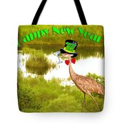 Happy New Year Card Tote Bag by Adele Moscaritolo