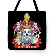 Happy New Year King Of Time Tote Bag