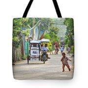 Happy Philippine Street Scene Tote Bag