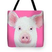 Happy Pig Portrait Tote Bag