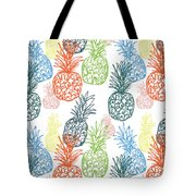 Happy Pineapple- Art By Linda Woods Tote Bag by Linda Woods