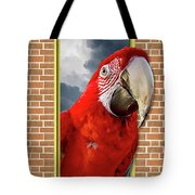 Happy Red Parrot Tote Bag