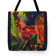 Happy Rooster Family Tote Bag
