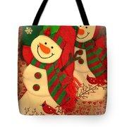 Happy Snowmen Tote Bag
