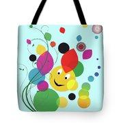 Happy Spring Image Tote Bag