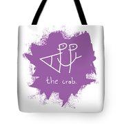 Happy The Crab - Purple Tote Bag