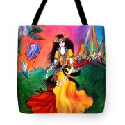 Happy To Dance. Ameynra And Mother-queen Tote Bag