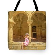 Happy Tourist Visits Coimbra Tote Bag