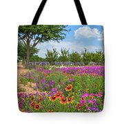 Happy Trail At The Farm Tote Bag