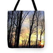 Happy Trails Sunset Tote Bag