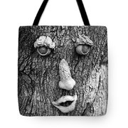 Happy Tree In Black And White Tote Bag