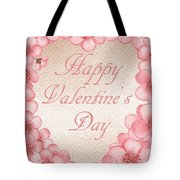 Happy Valentine Pink Heart Tote Bag
