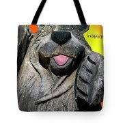 Happy Wooden Bear Craving Tote Bag