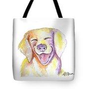Happy Yellow Dog Tote Bag
