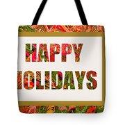Happy Holidays Card Tote Bag