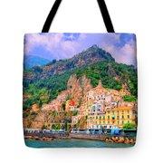 Harbor At Amalfi Tote Bag