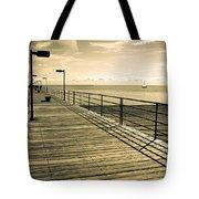 Harbor Beach Michigan Boardwalk Tote Bag
