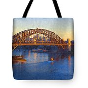Harbor Bridge At Sunset Tote Bag