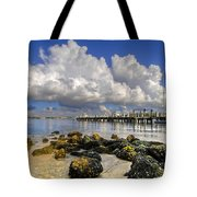 Harbor Clouds At Boynton Beach Inlet Tote Bag