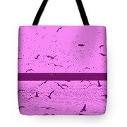 Harbor Gulls Purple Tote Bag